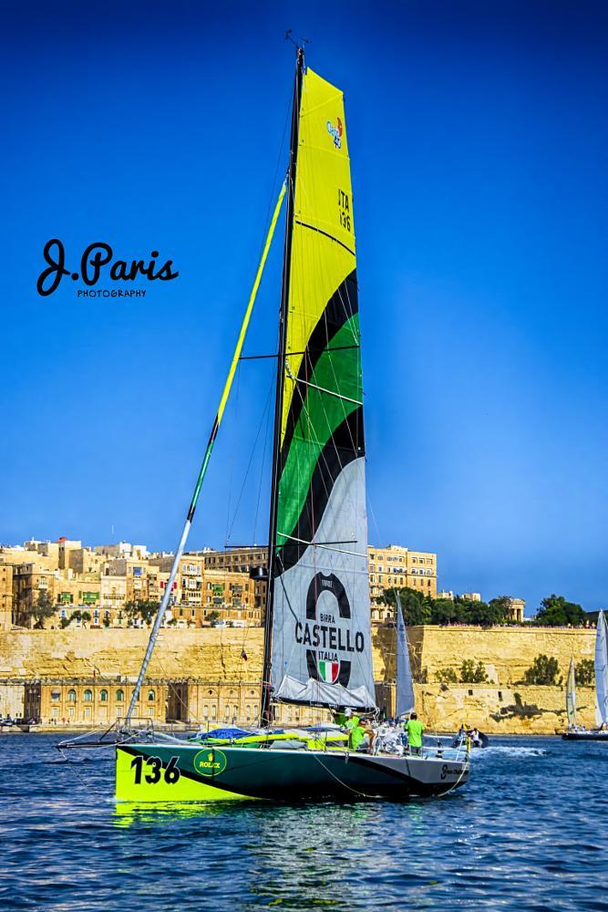 Photo in Sports #rolex middle sea race #malta #rolex #valletta #regatta #sea #water