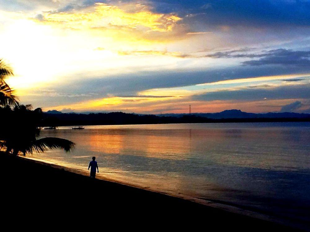 Photo in Landscape #sunset #stroll #cabong #beach #borongan #city #eastern #samar #philippines