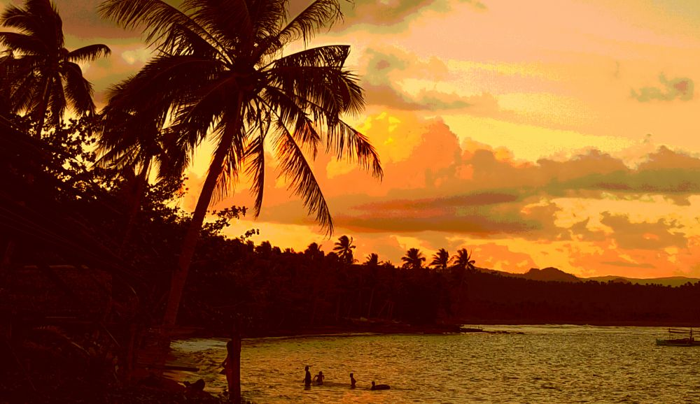 Photo in Landscape #sunset #gold #cabong #beach #borongan #eastern #samar #philippines