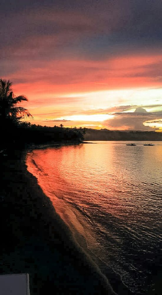 Photo in Landscape #sunset #red #clouds #cabong #beach #city #borongan #eastern #samar #philippines