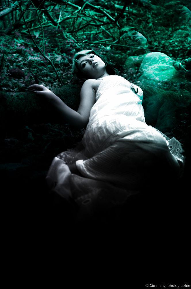 Photo in Black and White #girl #dark #strange #green #nature #people #portrait #black and white #model #pentax