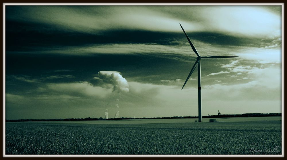 Photo in Landscape #energy #wind #nuclear