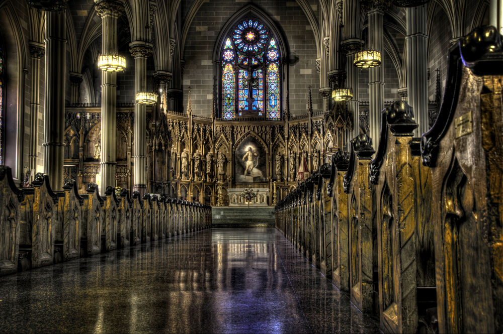 Photo in Random #church #hdr #nyc #new york #ny #manhattan #st patrick's old cathedral