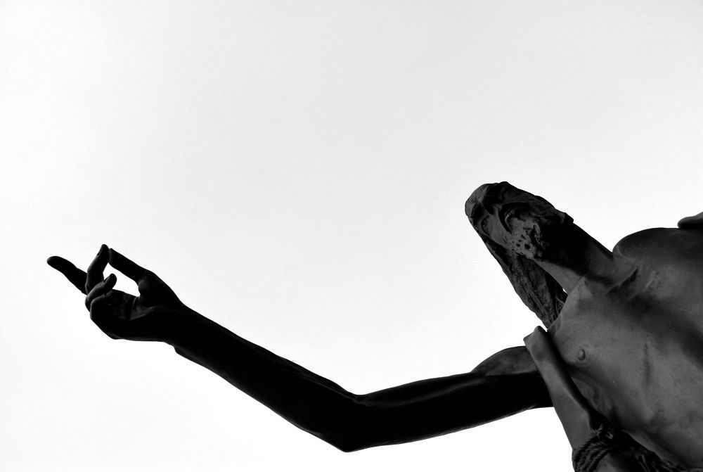 Photo in Black and White #statue #black and white