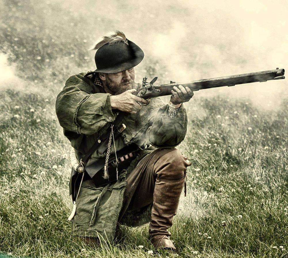 Photo in People #man #shooter #gun #costume #historic #festival #lightroom #4