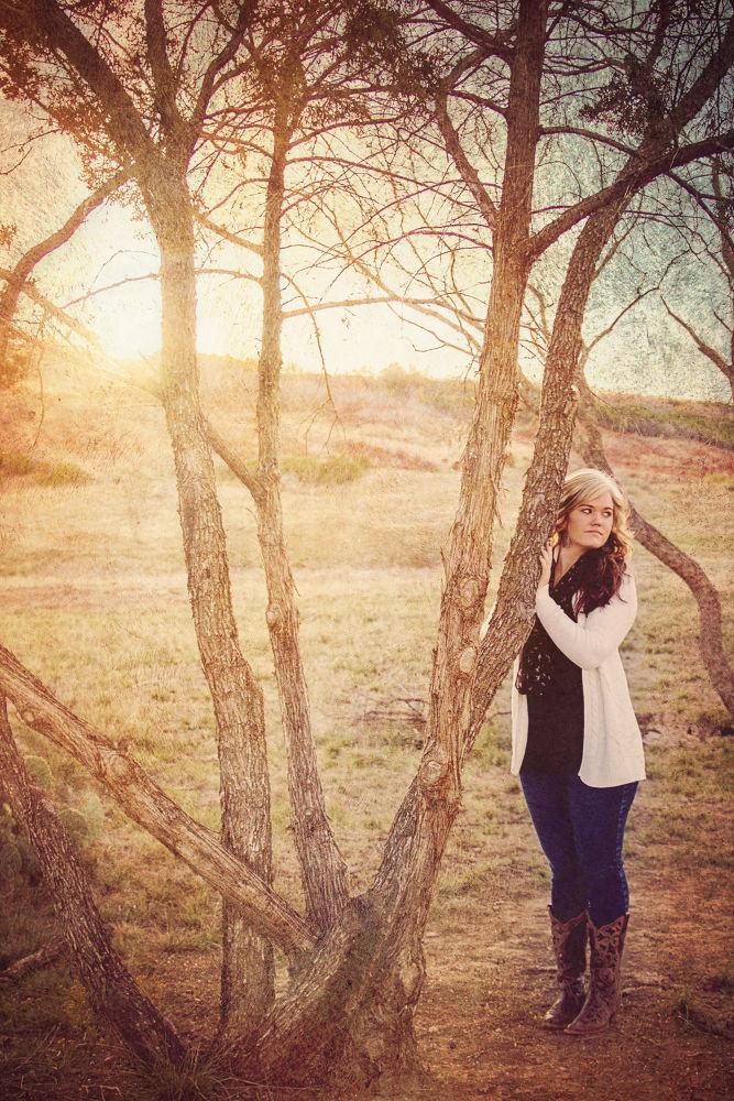 Photo in People #texas #sunset #girl #tree