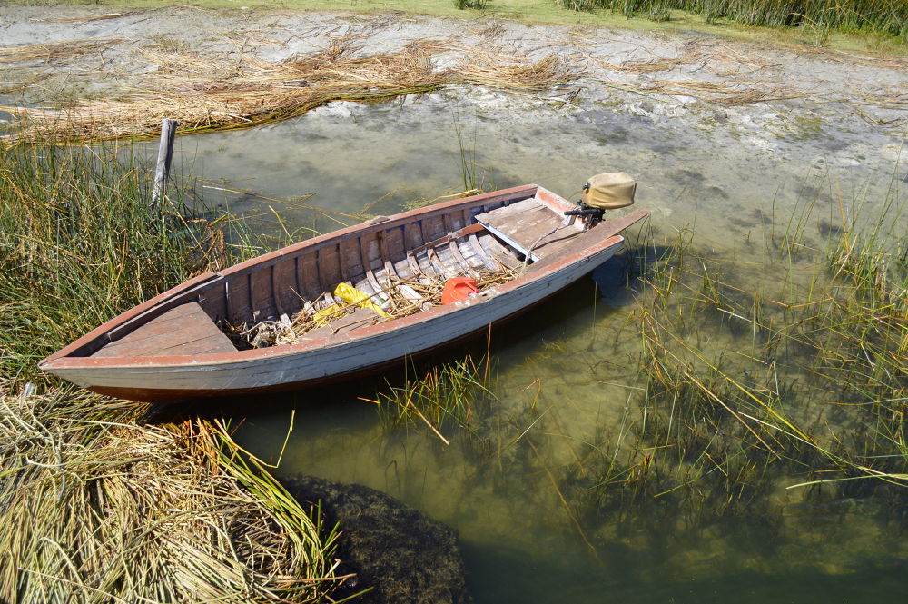 Photo in Travel #uros #titicaca #barco #boat