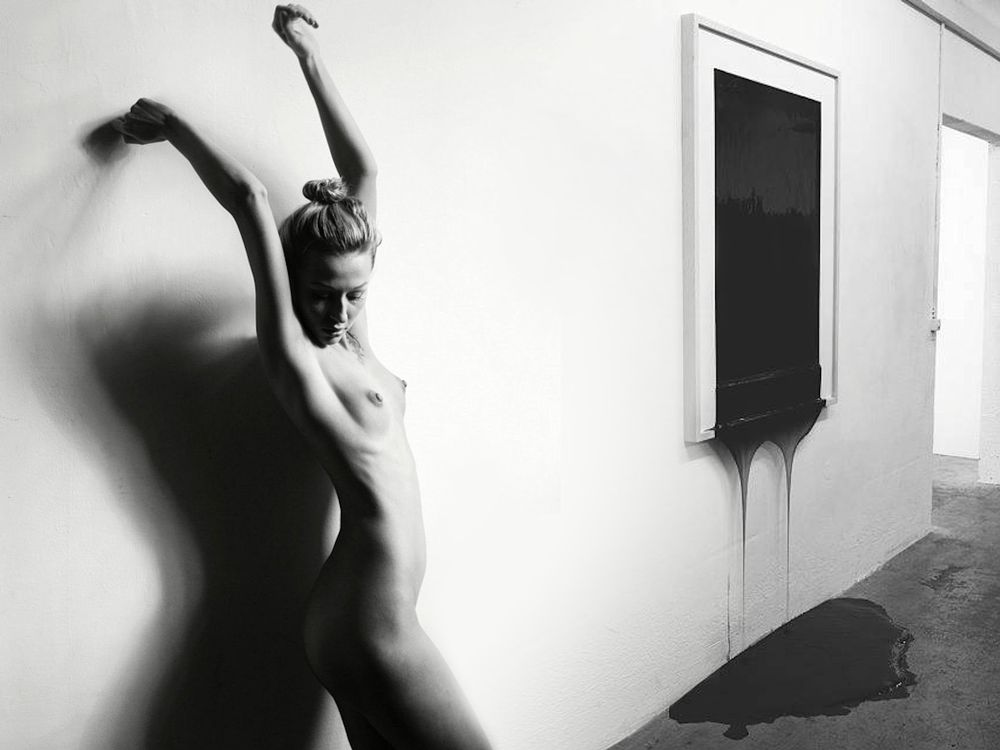 Photo in Fine Art #photo-collage #photo-montage #photo-manipulation #collage #montage #black and white #nude #raskolnick