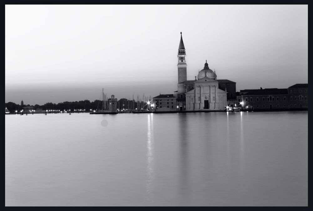 Photo in Street Photography #venice #black #white #city #water #sky #morning