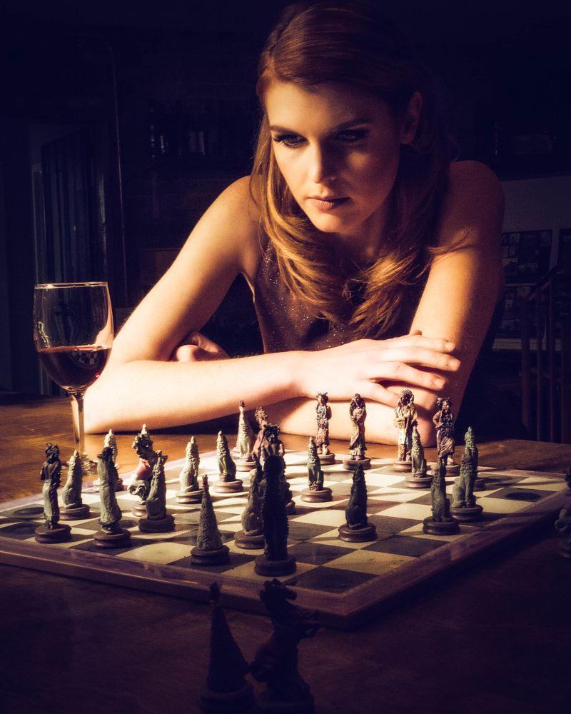 Photo in Portrait #model #blonde #woman #wine #natural light