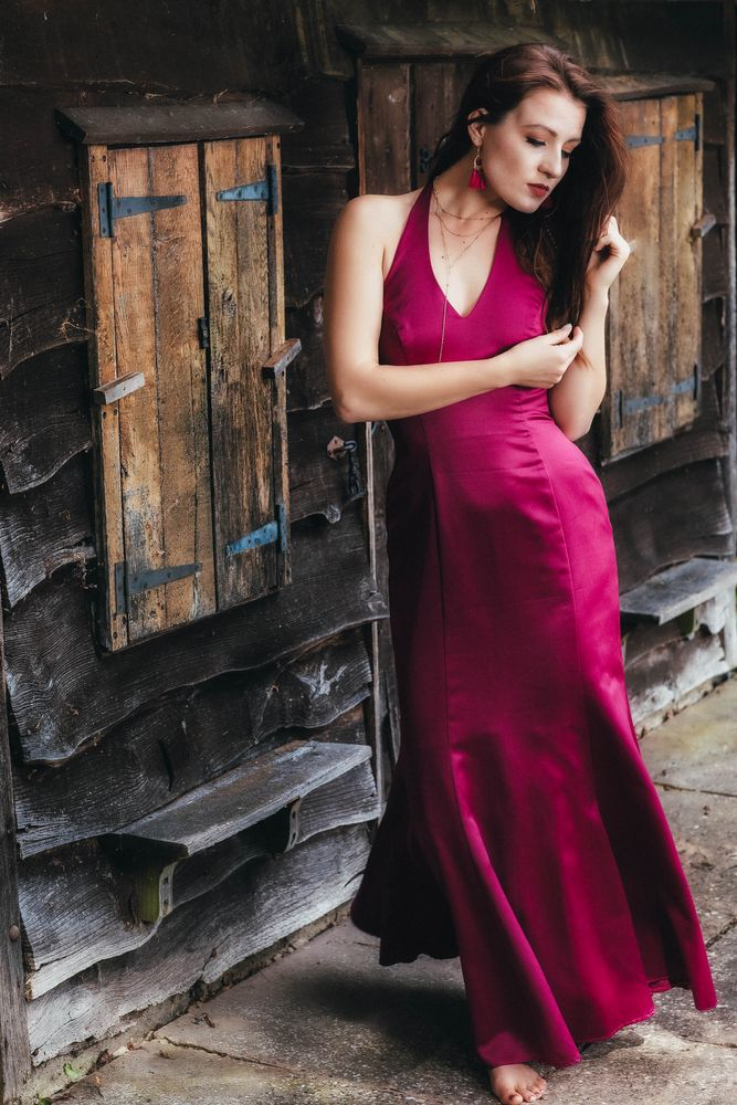 Photo in People #beautiful woman #beauty #door #elegant #fashion #female #femininity #model #outdoors #portrait #redhead #sensuality #woman