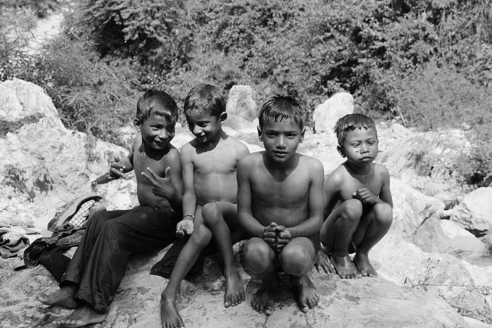 Photo in Random #bnw #blackandwhite #india #childhood #children