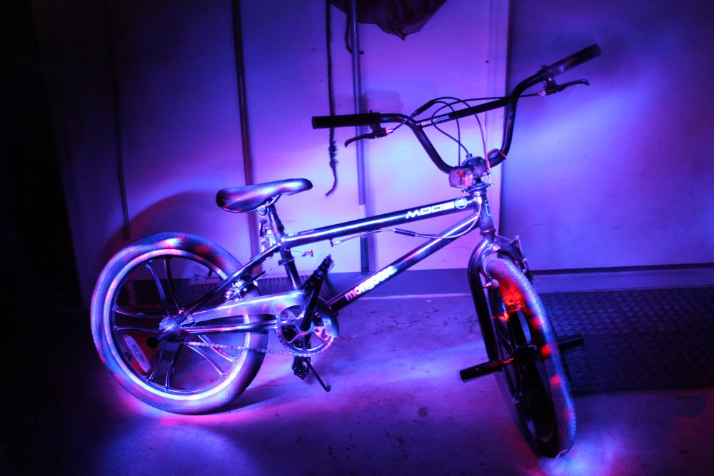 Photo in Fine Art #low light #light paint #slow shutter #retro #purple #blue #bike