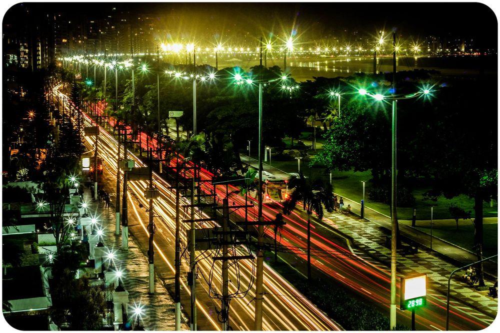 Photo in Urban #santos noturna #foto noturna