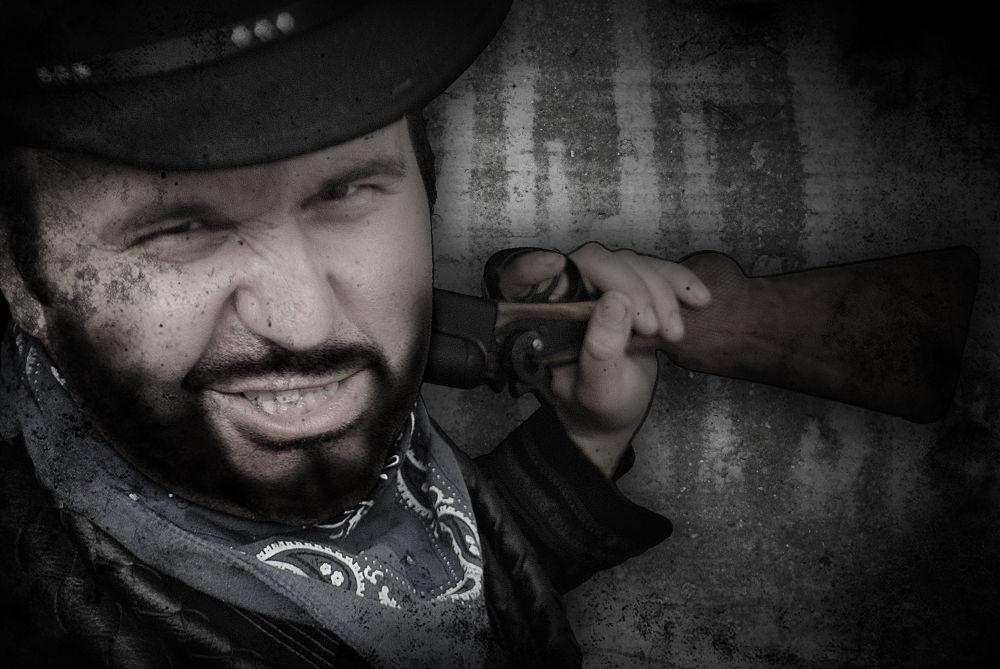 Photo in Random #grunge #grin #western #outlaw #shotgun