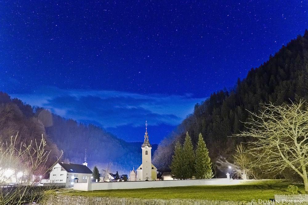 Photo in Landscape #stars #church #night