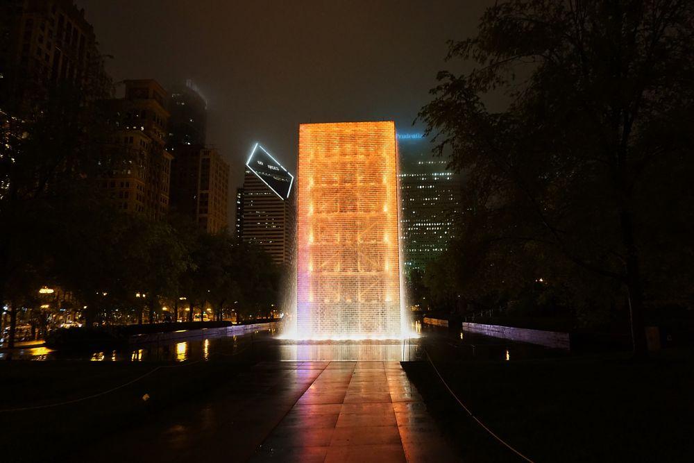 Photo in Cityscape #chicago #urban landscape #architecture #fountains #millennium park