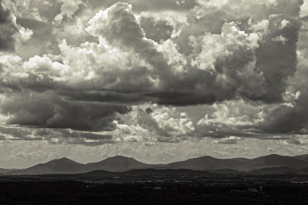 Photo in Landscape #mountains #black and white #b/w #clouds #landscape