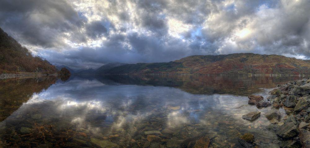 Photo in Landscape #duich #highland #scotland #skye road #loch #reflection #rock #sky #calm