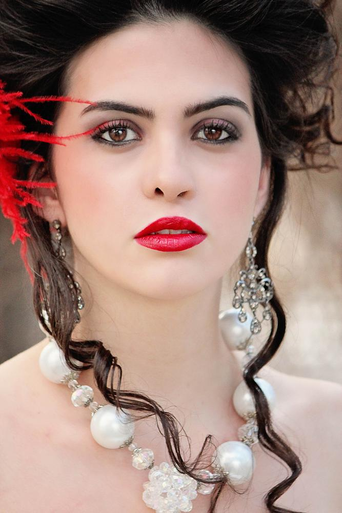 Photo in Portrait #woman #fashion #red #lips #hair #makeup