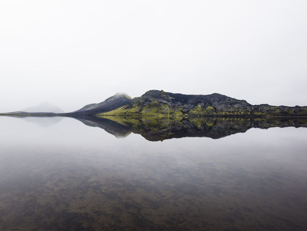 Photo in Landscape #lake #mountains #iceland #reflection