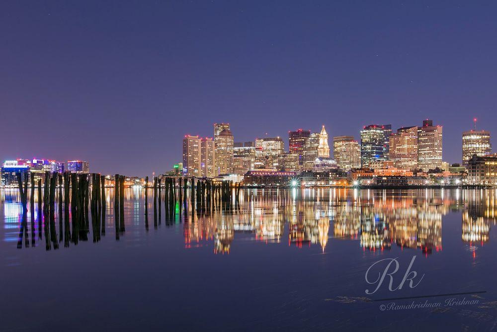 Photo in Random #boston #night #skyline
