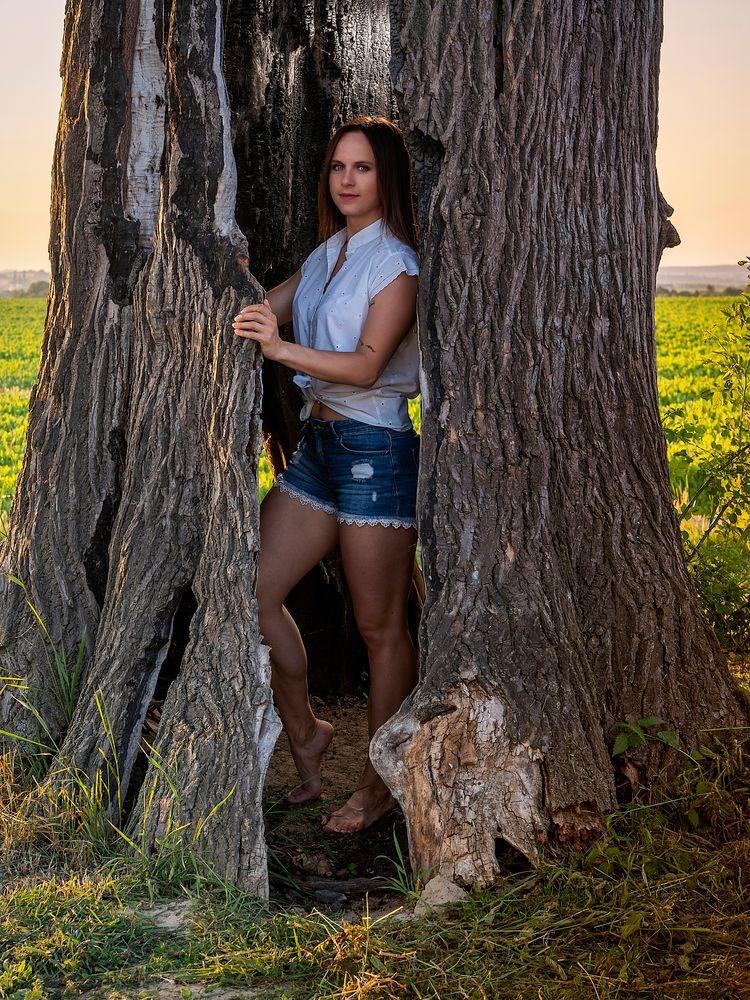 Photo in People #woman #beauty #tree