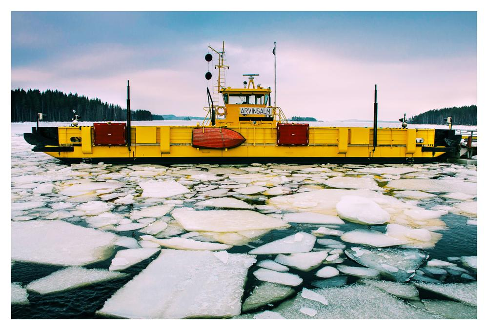 Photo in Vehicle #ferry #finland #winter