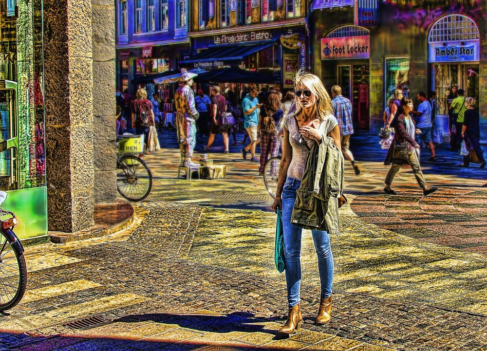 Photo in Street Photography #street #blonde #hdr