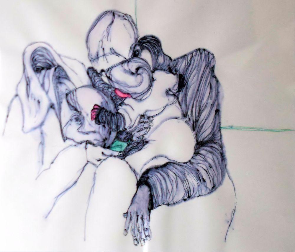 Photo in Fine Art #sacra famiglia #holy family #giuseppe fontanarosa #naples #expressionist art #arte espressionista #expressionism #espressionismo #arte contemporanea #betadine #penna a sfera #bic pen #bic #social digital solidarity #napoli #san severo al pendino #betadine+bic #naples #arnaldo de lisio #contemporary art