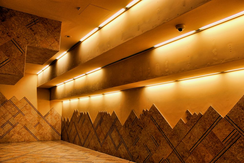 Photo in Architecture #linea 1 #metropolitana #stazione di toledo #tubeway #underground #mosaic #mosaico #arte contemporanea #contemporary art #arnaldo de lisio