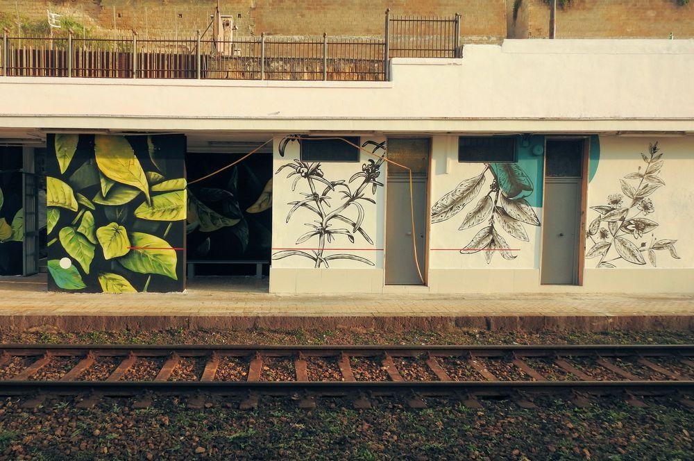 Photo in Architecture #inward #assafà #cumana dazio #corn79 #fabio patani #street art #via di pozzuoli #murale #murales #arnaldo de #bagnoli