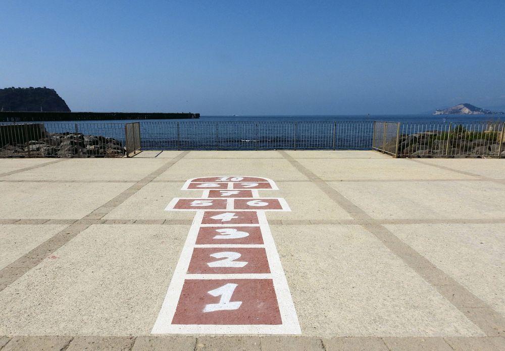Photo in Landscape #nisida #isola #island #italian island #capo miseno #child's game #children's game #arnaldo de lisio #gioco estivo #gioco infantile #gioco #naples #bagnoli #campana #summer #game #summer game #sea #mare #dock #molo