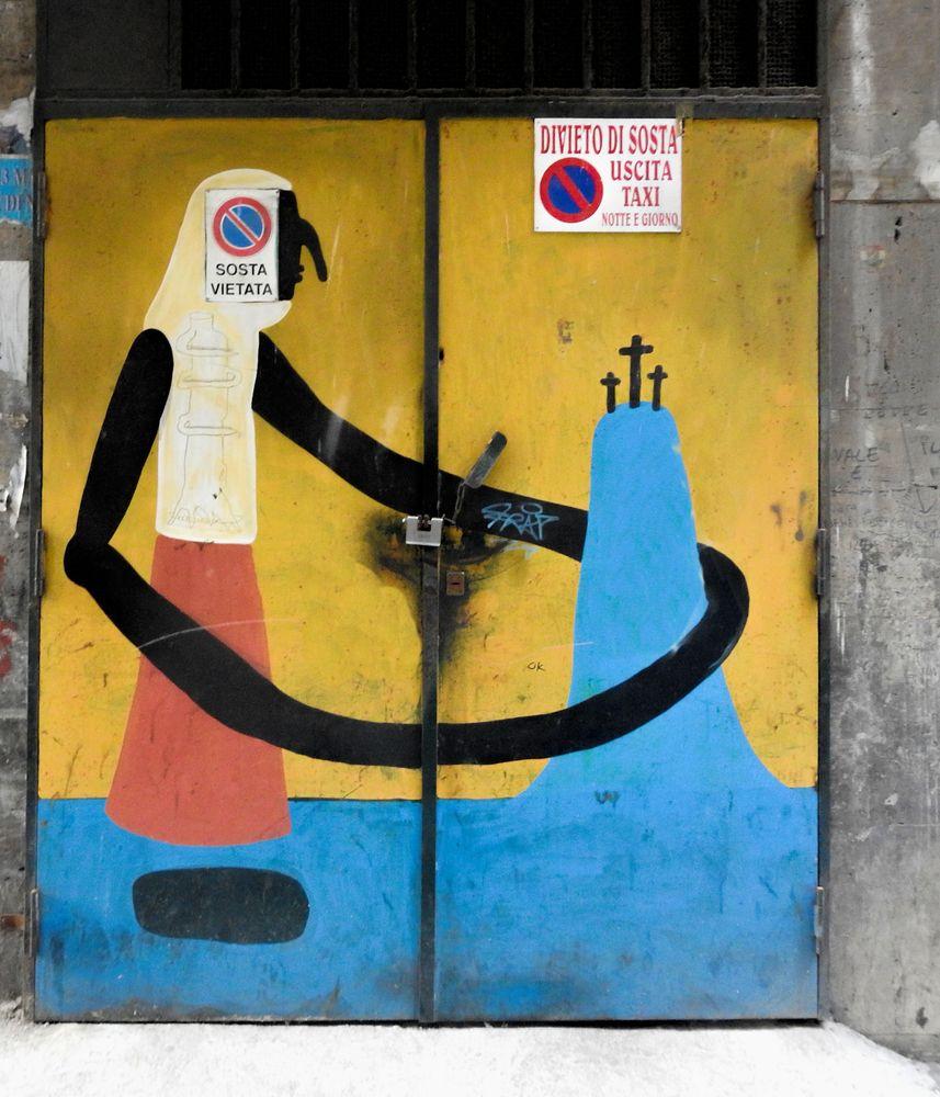 Photo in Street Photography #urban art #arnaldo de lisio #murales #mural #quartieri spagnoli #street art #cyop&kaf #quore spinato #montecalvario