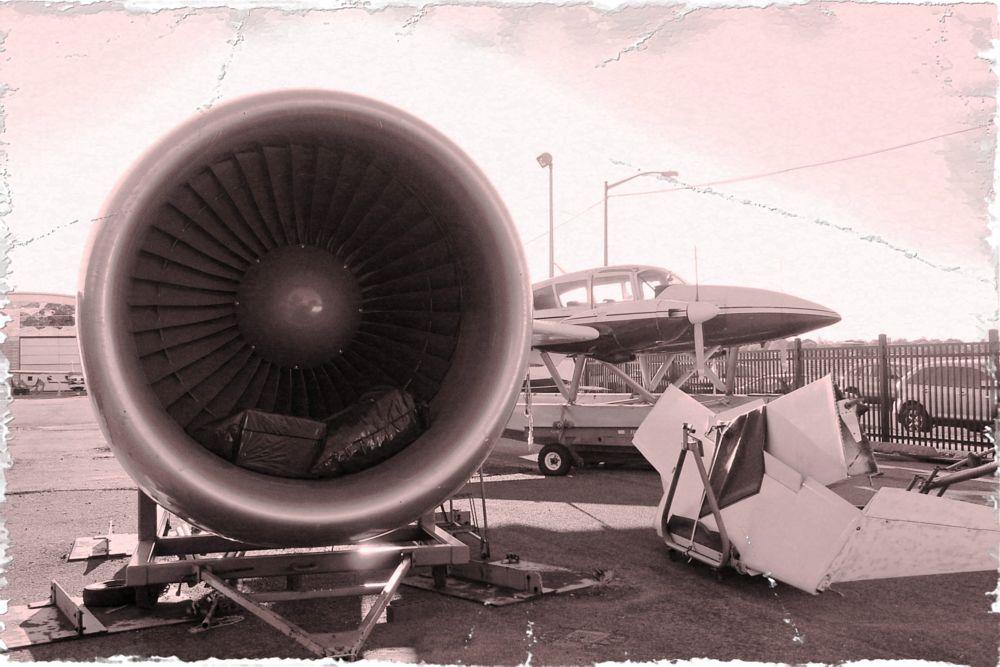 Photo in Black and White #plane #random #vintage #vehicle #black&white #newyork