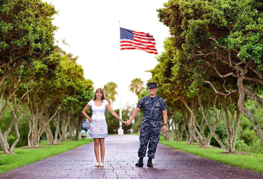Photo in Random #navy #sailor #florida #sunrise #girlfriend #couple #cute #usa #flag