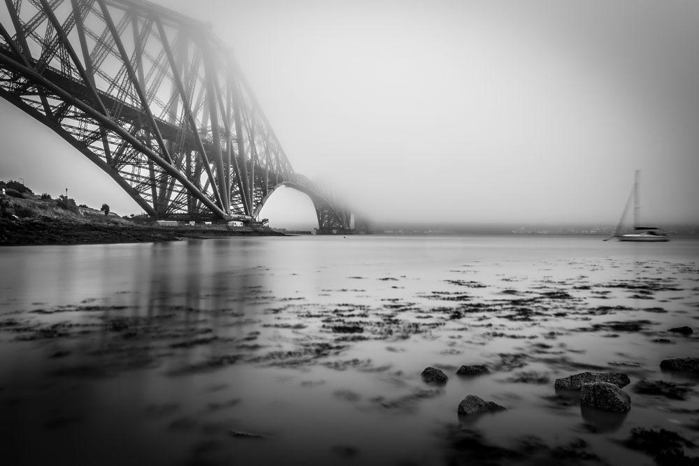 Photo in Landscape #longexposure #nikon #nicholasejones #scotland #forthrailbridge #blackand