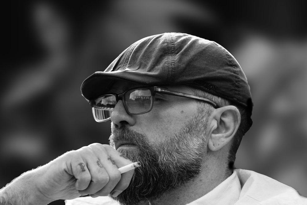 Photo in Random #male #smoke #smoking man #portraits4u #black and white #pott #germany #bearded