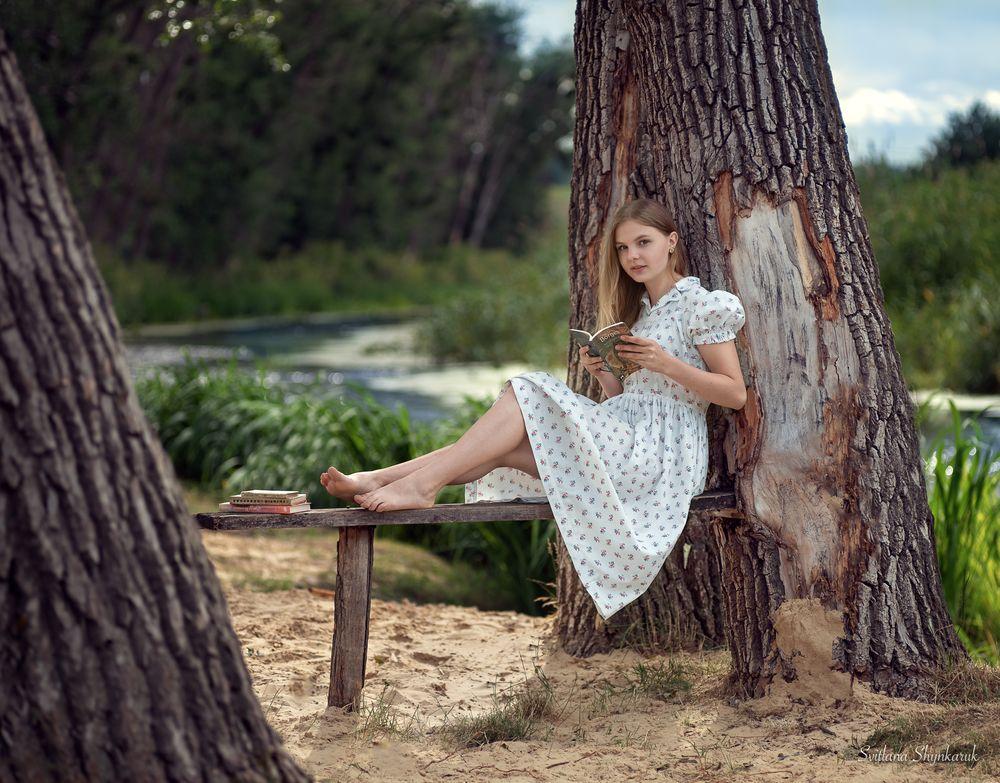 Photo in Portrait #svitlana shynkaruk #boy #brother #family #fishing #girl #portrait #pretty #river #sister #summer