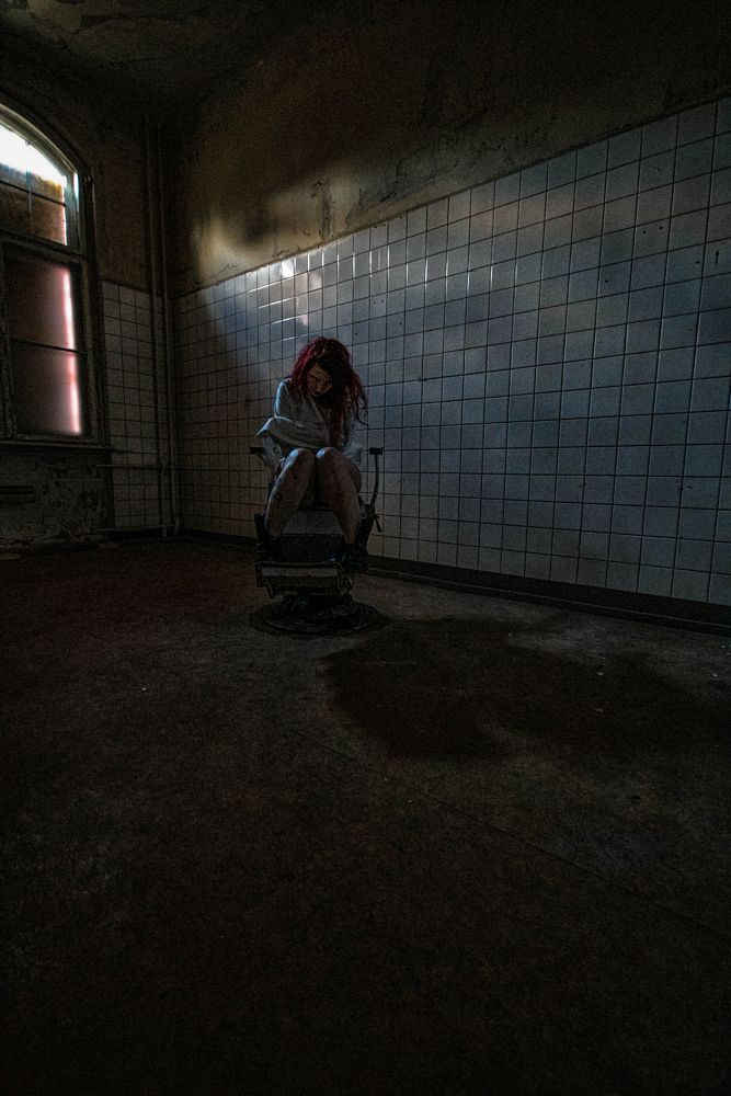 Photo in People #lost #lost place #lost place shooting #clinic #female model