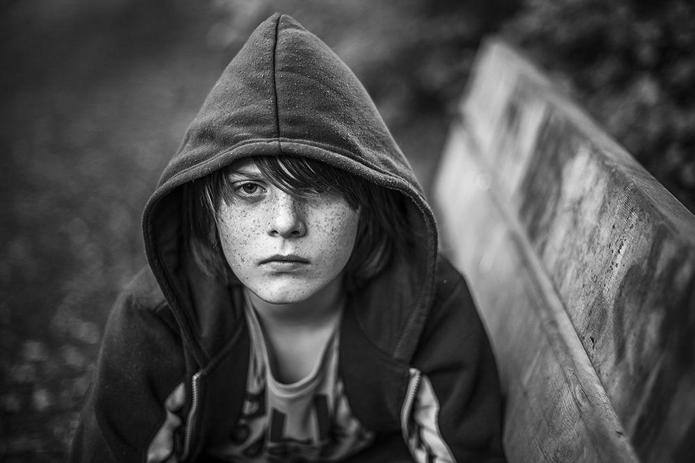 Photo in Portrait #portrait #black and white #bw #freckles