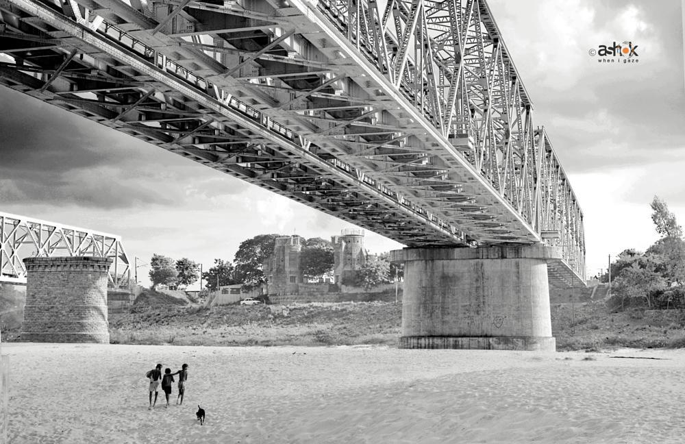 Photo in Architecture #bridge #railway #countryside #kids #river #architecture #steel