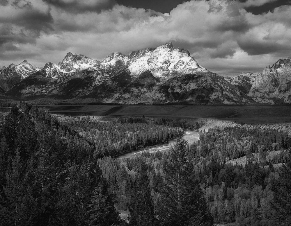 Photo in Black and White #ansel adams #grand tetons #national parks