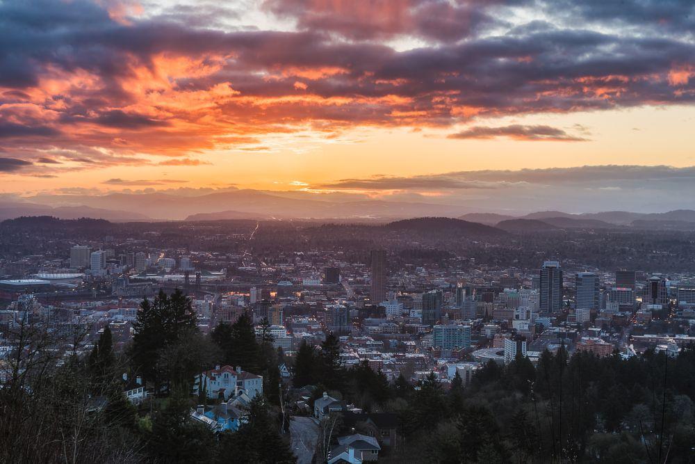 Photo in Cityscape #portland #city #sunrise