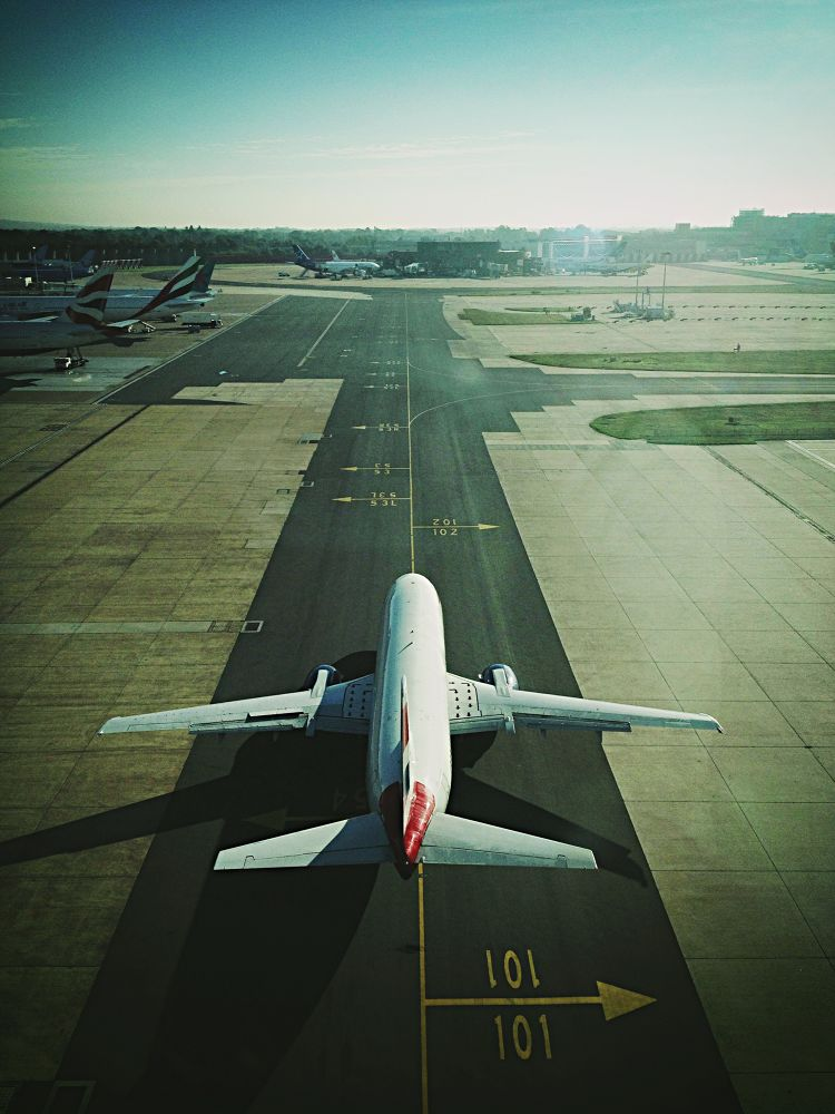 Photo in Vehicle #airplane #aircraft #aeroplane #airport #737 #british airways #taxi #runway