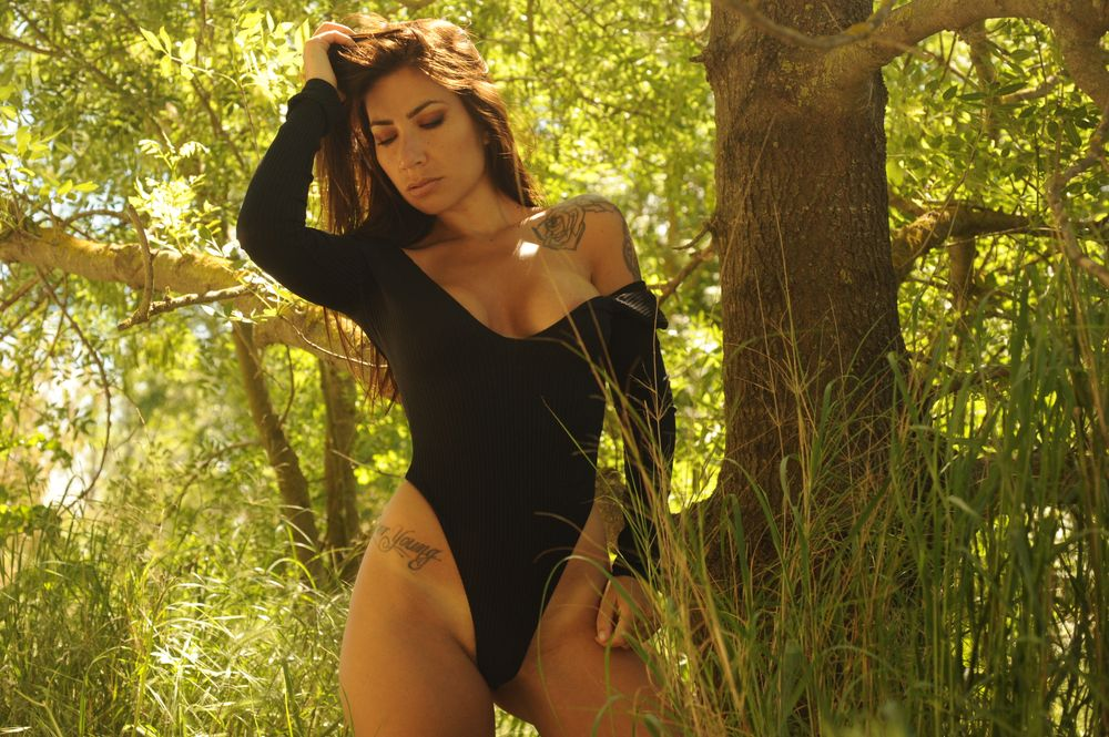 Photo in Portrait #modele #sexy #forest #body #black #summer #style