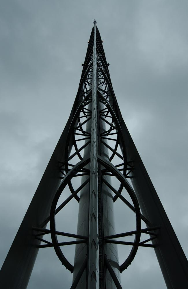 Photo in Architecture #tower #steel #sky #grey