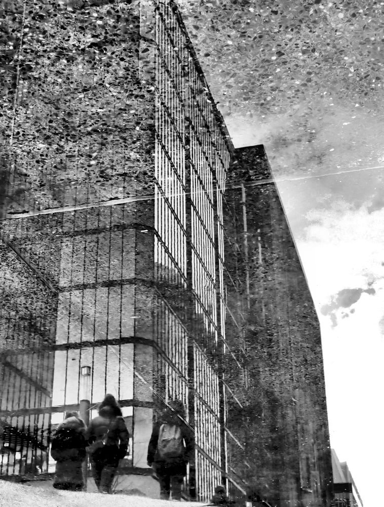 Photo in Street Photography #ottawa #reflection #monochrome