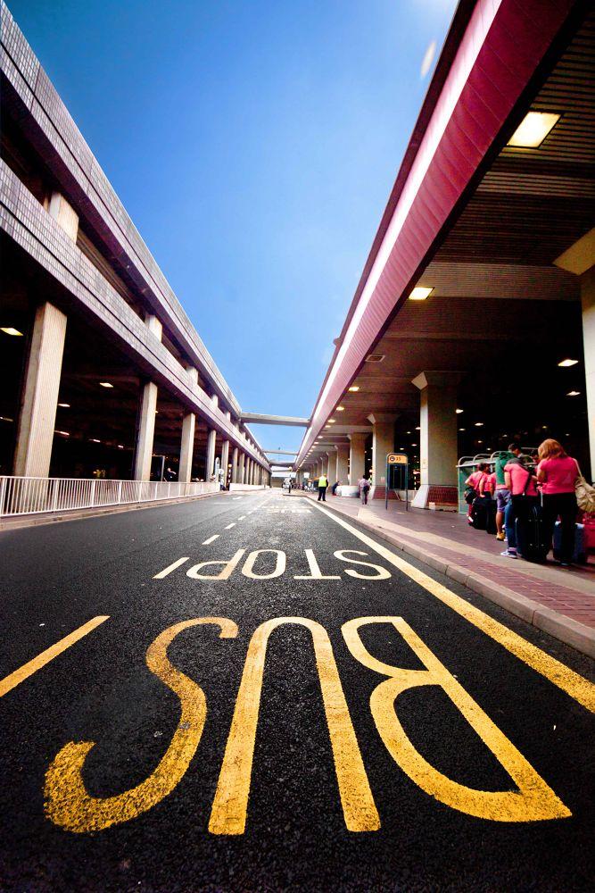 Photo in Random #airport #read #bus stop