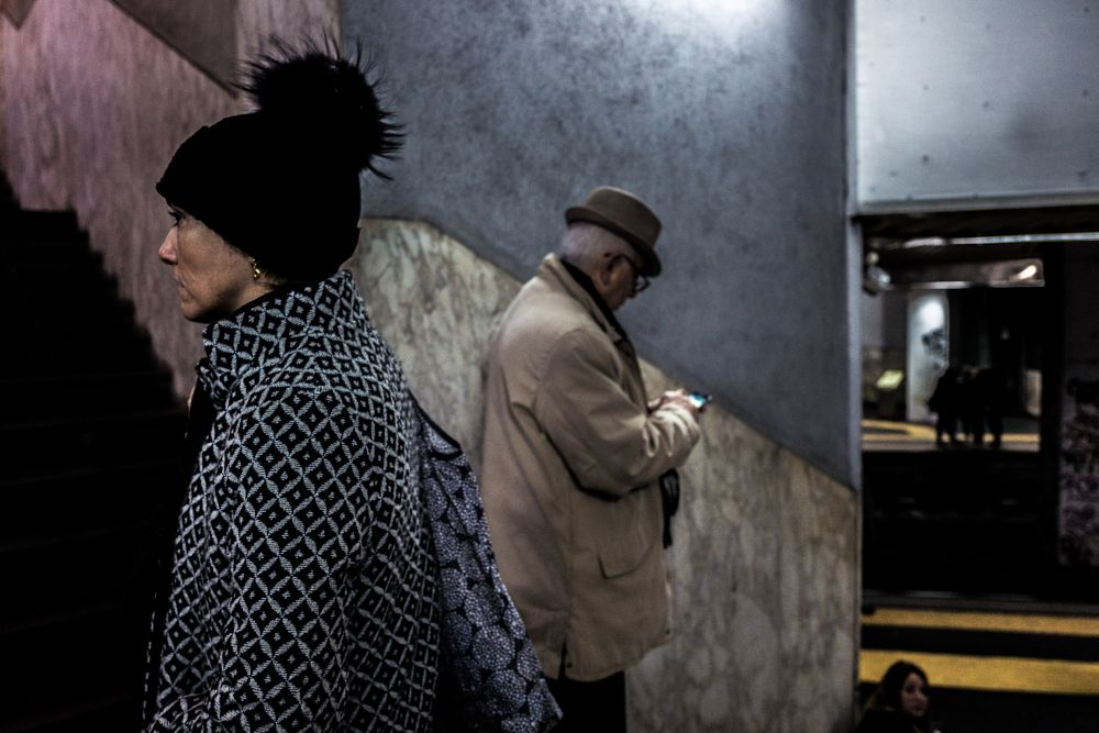 Photo in Street Photography #picture #cold #metro #people #color #contrast #napoli